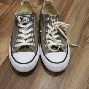 Converse All Star low cut gray sneaker size 6.5